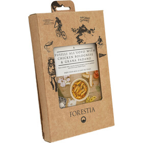 Forestia Heater Outdoor Meal Meat 350g, Fusili all'Uovo with Chicken Bolognese and Grana Padano